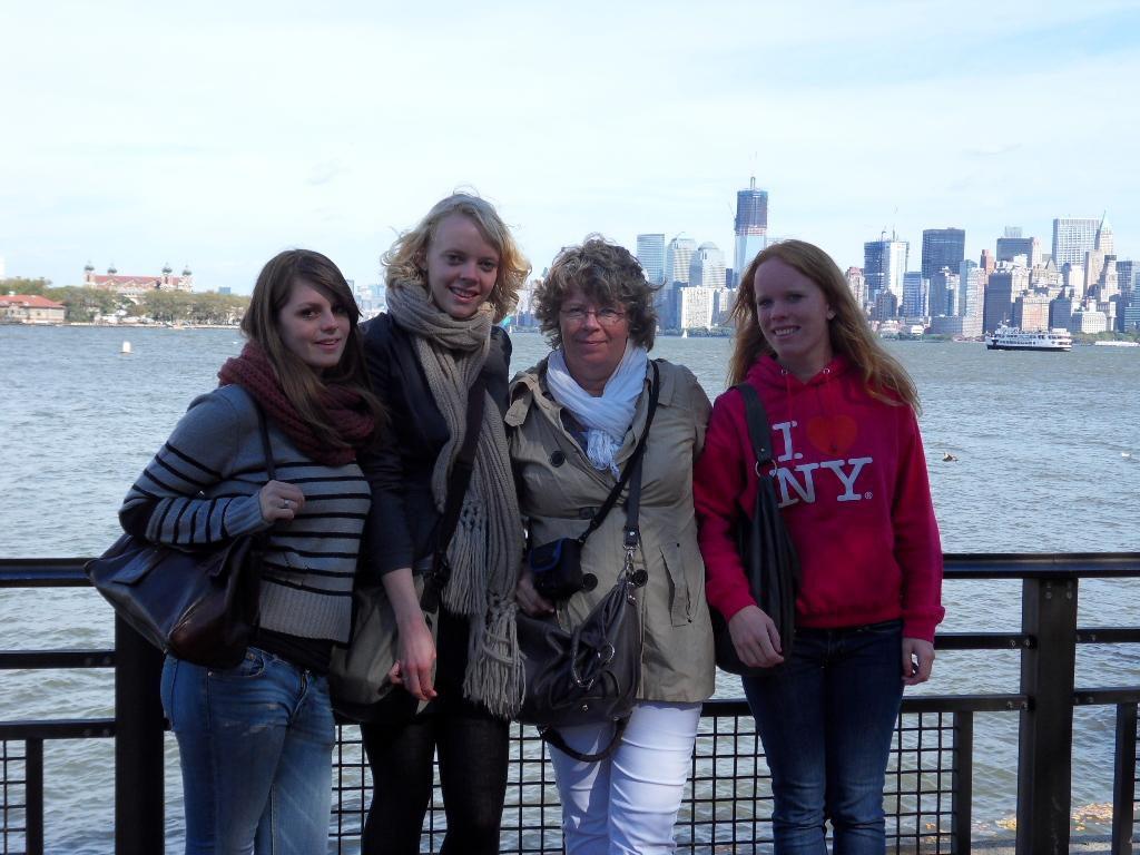 Aukje, Laura, Immie en Petra