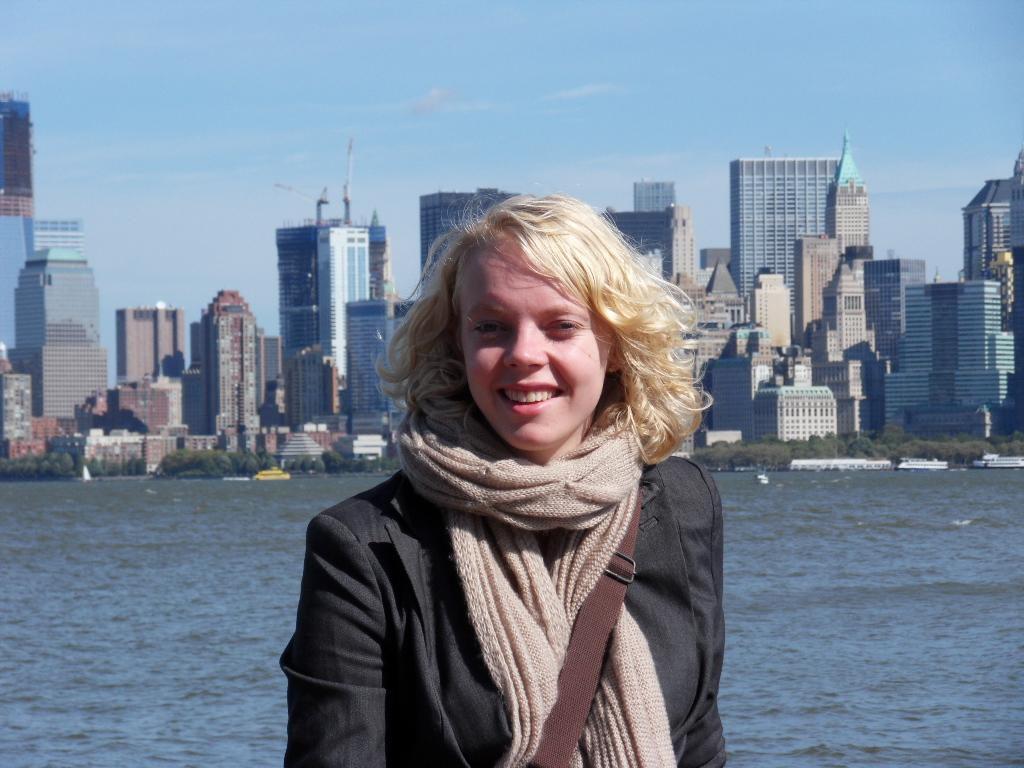 Ik met NYC op de achtergrond