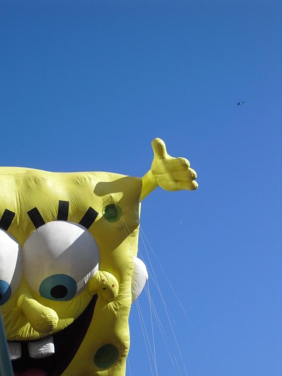 Spongebob wagen Thanksgiving parade