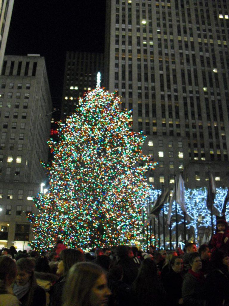 Kerstboom bij Rockefeller Center