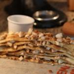 Apple Cinnamon Pull Apart Bread. Plaats de repen bovenop elkaar