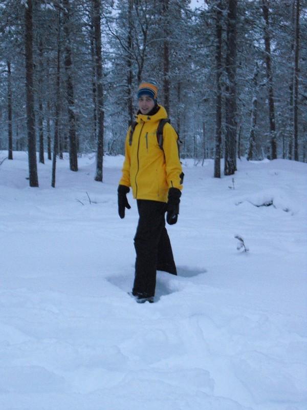 Bennie in de sneeuw