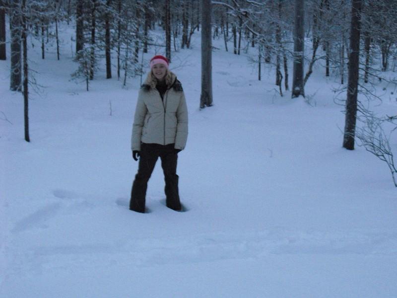 Laura in de sneeuw