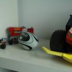 Speelgoed in de studeerkamer