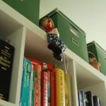 Clowntje bovenop kast in studeerkamer