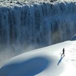 Waterval ijsland Winter