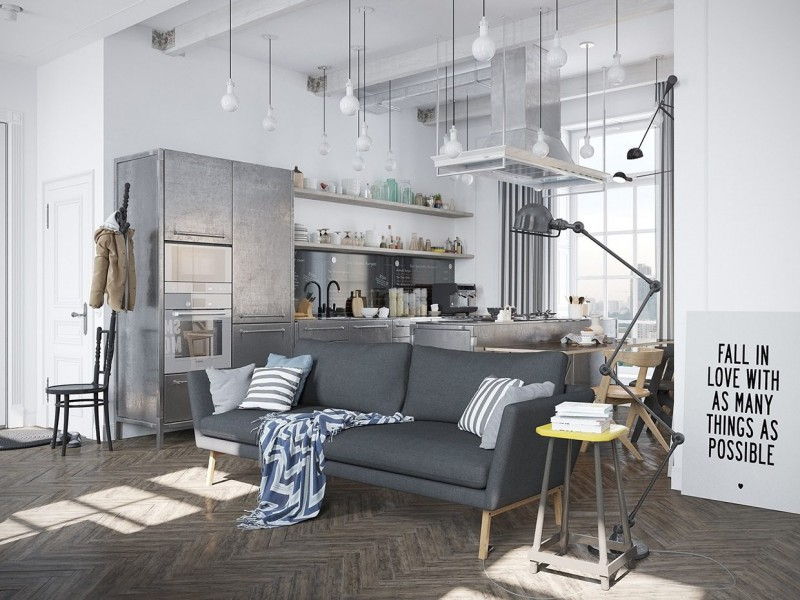 Interior inspiration, scandinavisch design meets industriële elementen