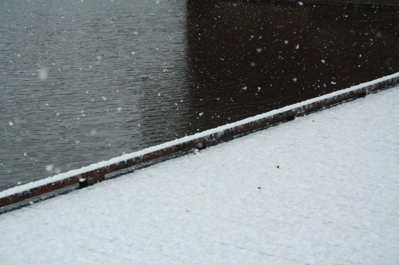 I Love Winter! Vlonder bij flat