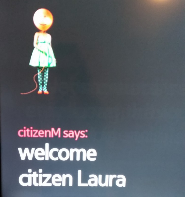 CitizenM Amsterdam Hotel Welcome