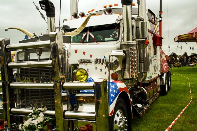 American Flag Truck