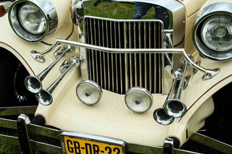 Oldtimer Festival Car with Horns