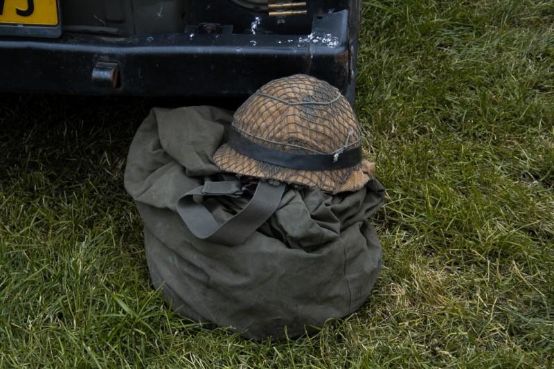 Oude soldaten helm