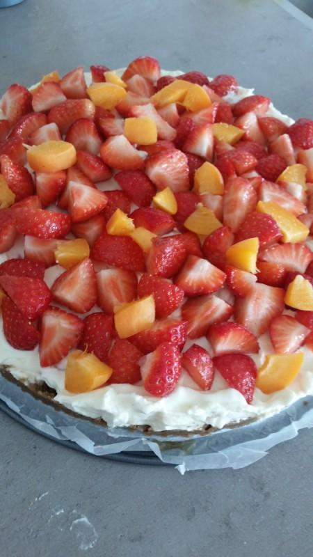 fruitige cheesecake