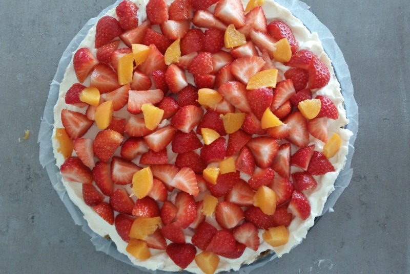 fruitige cheesecake