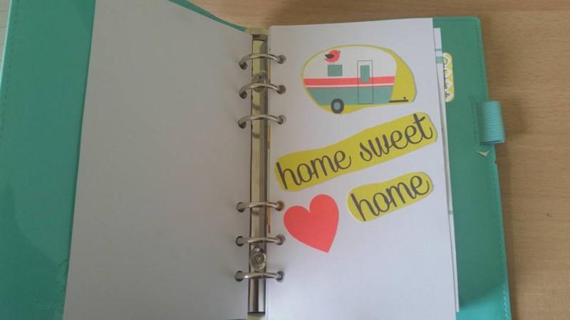 Filofax dashboard home sweet home