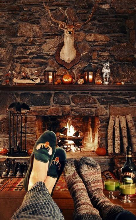 Log cabin fire