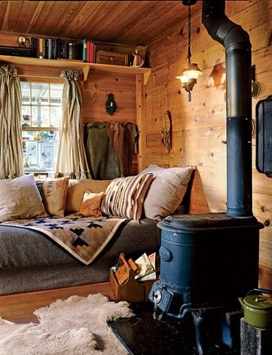 Log Cabin interior cosy