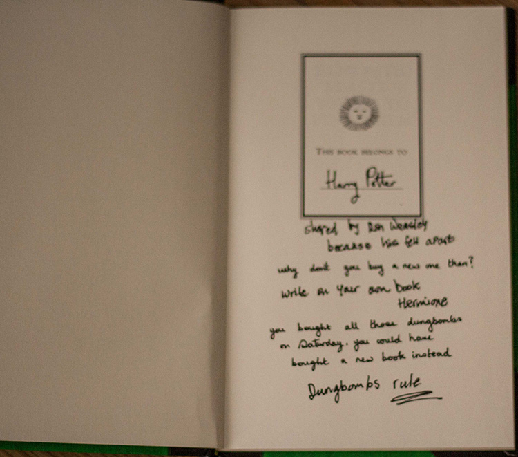 Fantastic Beasts and Where to Find them Inside Cover