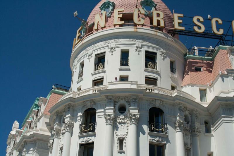 Het beroemde hotel Negresco in Nice