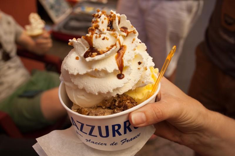 Het lekkerste ijs in Nice eet je bij Azzura.