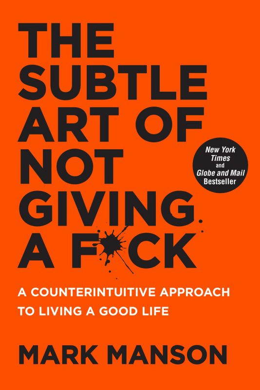 Cover the subtle art of not giving a f*ck