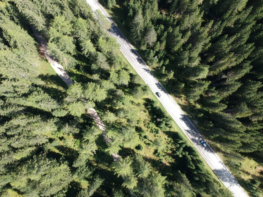 Dronephoto de Dolomieten