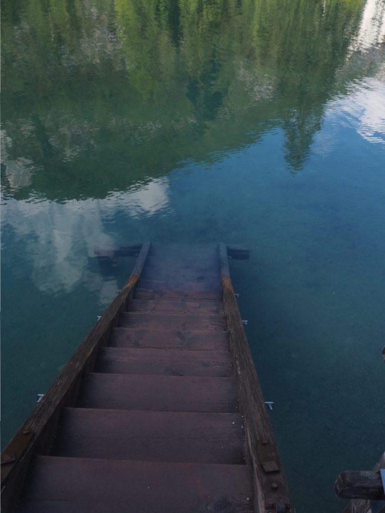 Trap bij Lago di Braies