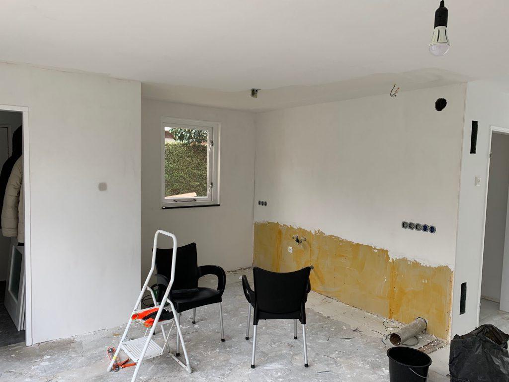 Interior: keuken gestuct