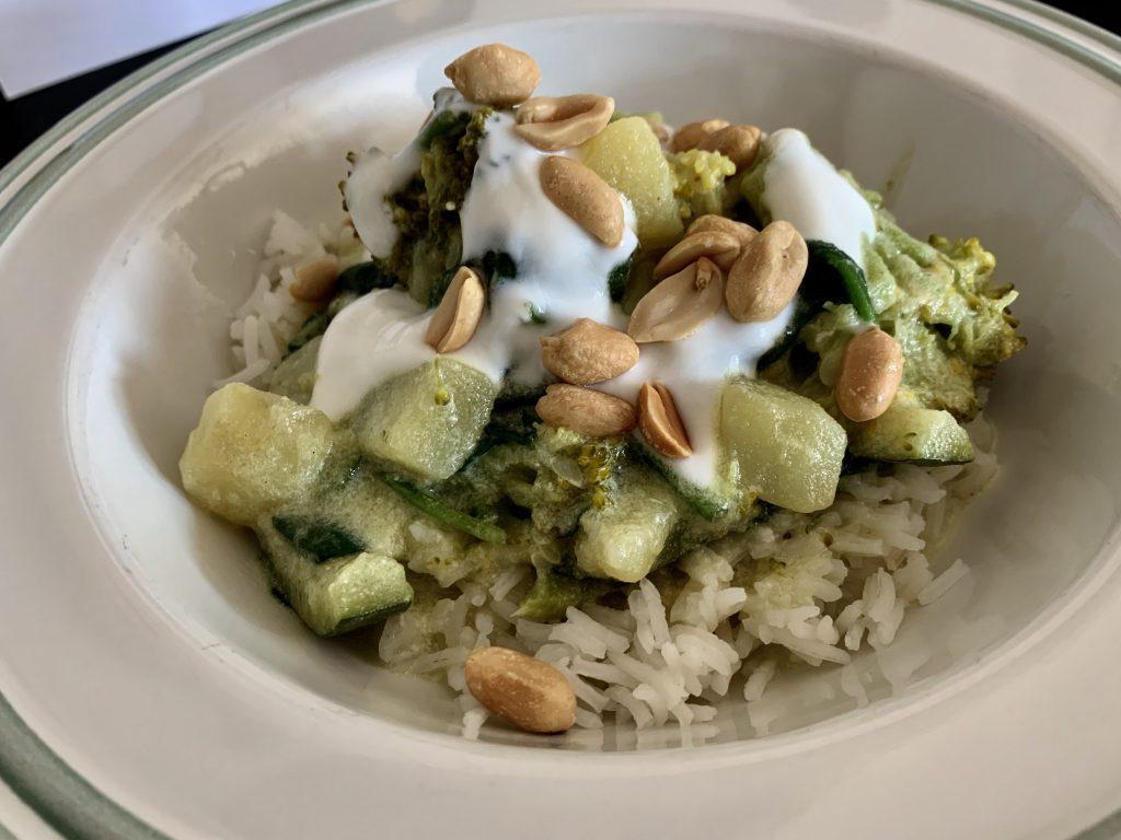 Romige groene kokos curry - De FODMAP-vriendelijke keuken