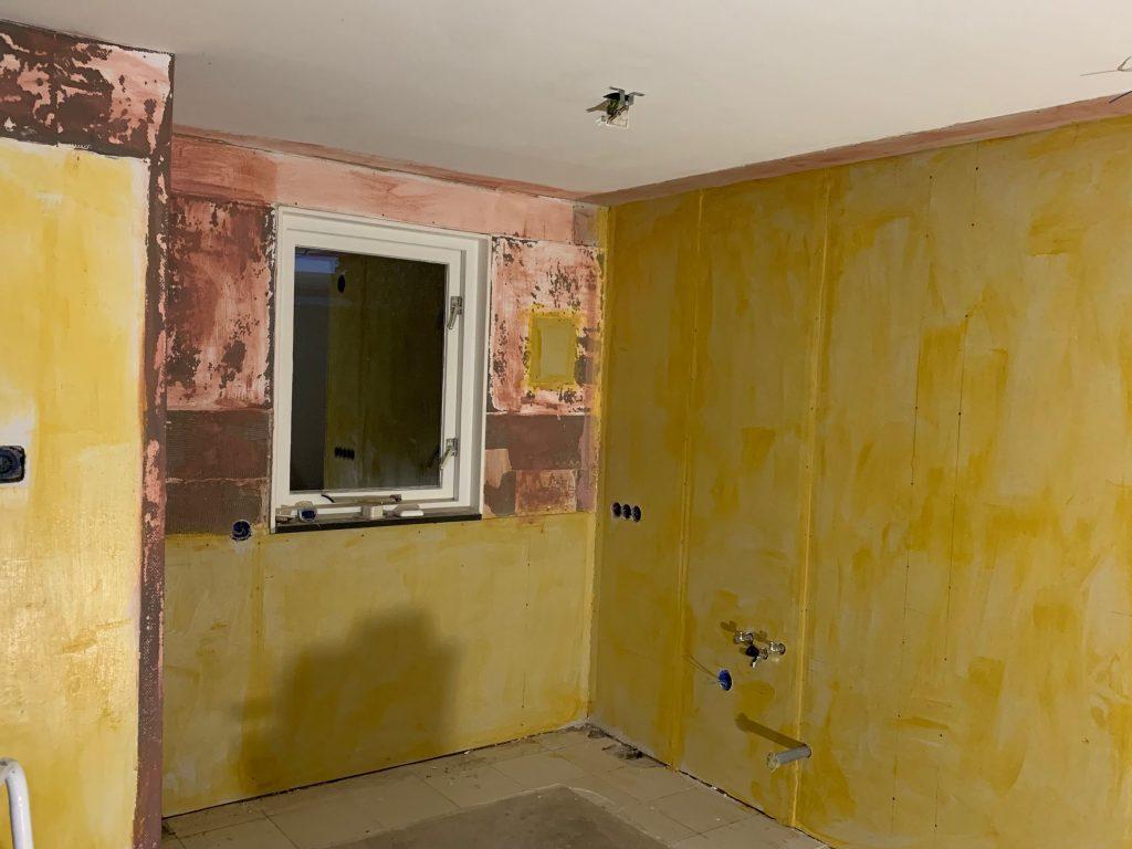 Interior: voorbereiding keuken wanden