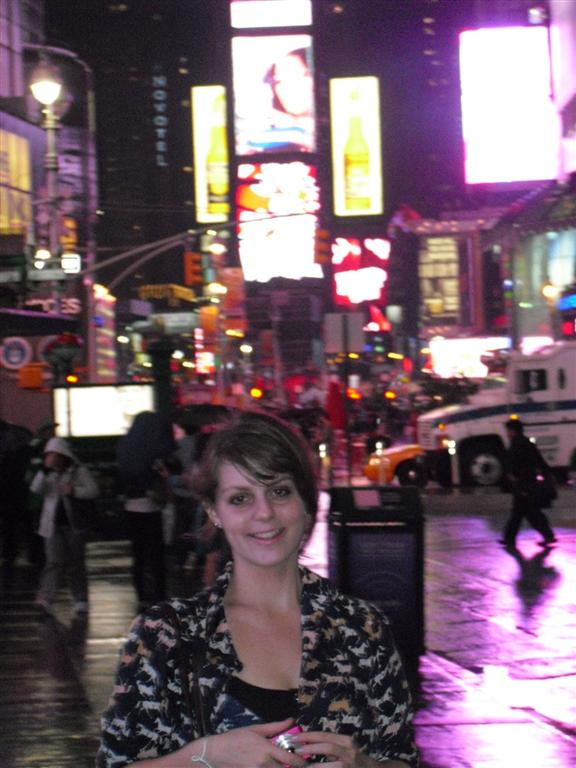 After the holiday I was broke - Aukje op Times Square