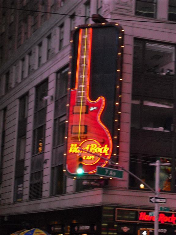 After the holiday I was broke - Hard Rock Cafe
