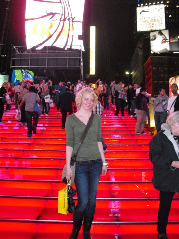 After the holiday I was broke - Laura Times Square
