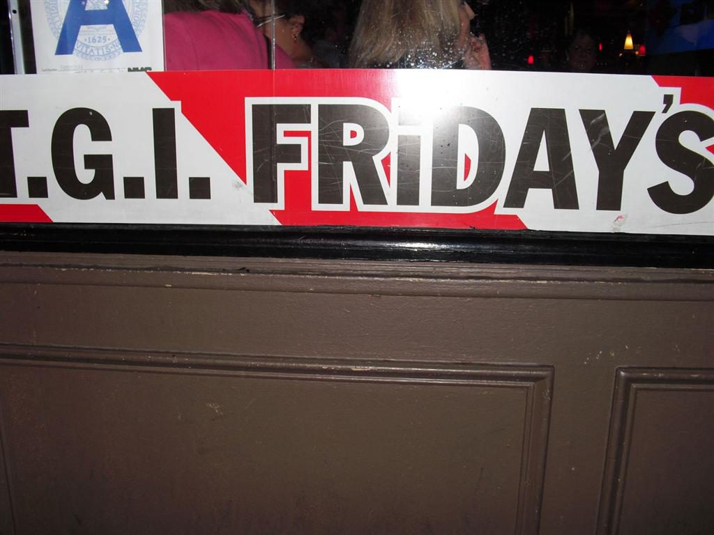 After the holiday I was broke - TGI Friday's