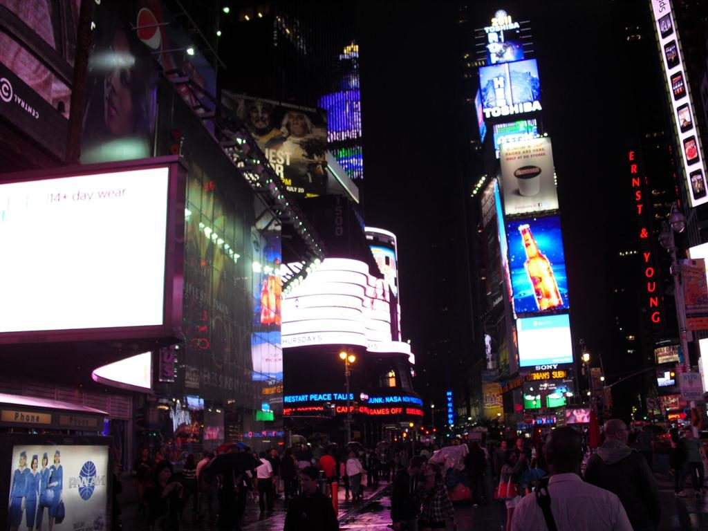 After the holiday I was broke - TImes Square Reclame