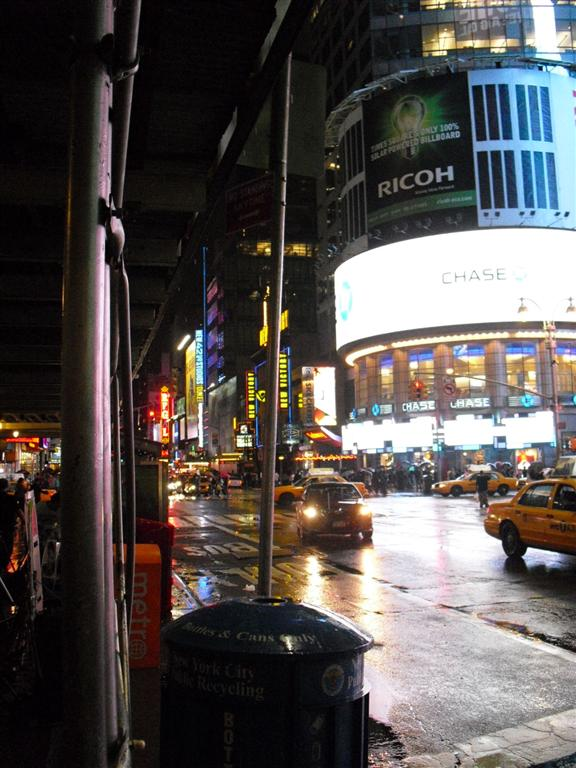 After the holiday I was broke - Times Square - Yellow Cabs