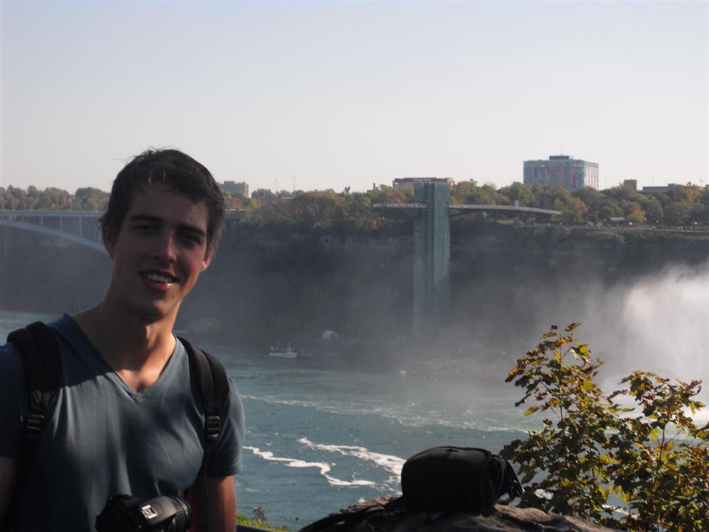 Ben bij Niagara Falls