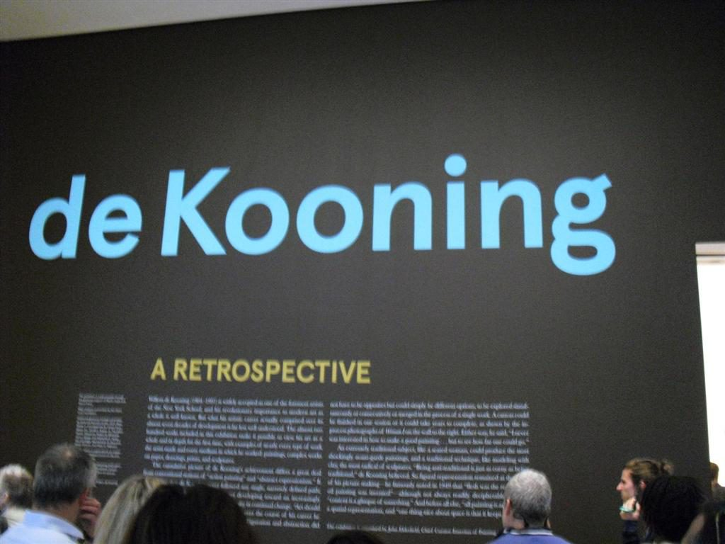 I cannot say pap anymore - MoMa de Kooning