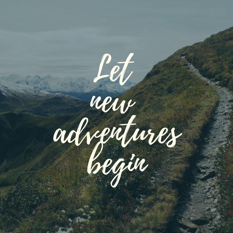 Let new adventures begin